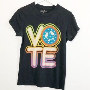 Lucky Tees Vote MTV T-Shirt Short Sleeve Small